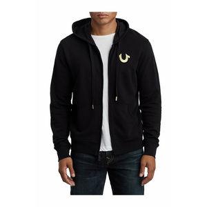 True Religion Men's Metallic Hoodie Sweatshirt